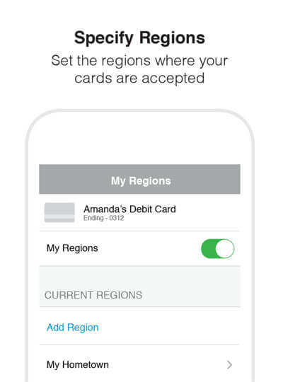 Specify Regions - Set the regions where your cards are accepted.